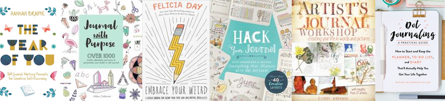 book covers for books about journaling